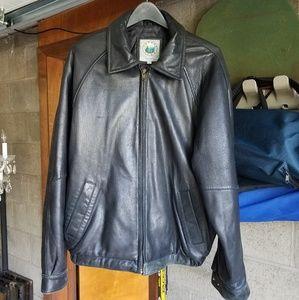 Black Leather Men's Jacket / Coat